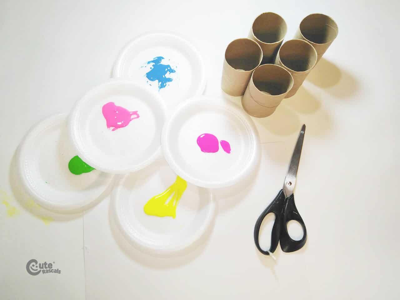 Materials Firework Colors Easy Art Activity