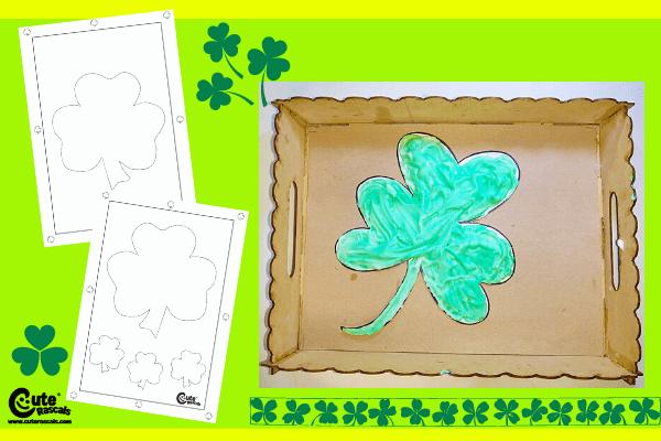 Creamy Shamrocks Shaving Cream Art Ideas for Kids Montessori Worksheets (4-6 Year Olds)