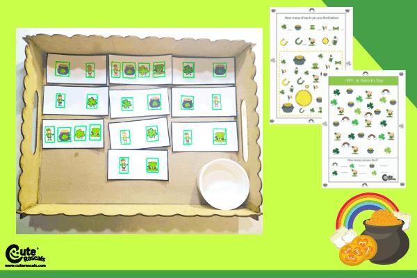 Fun 2 step activity for kids sharp memory. Leprechaun memory game for kids