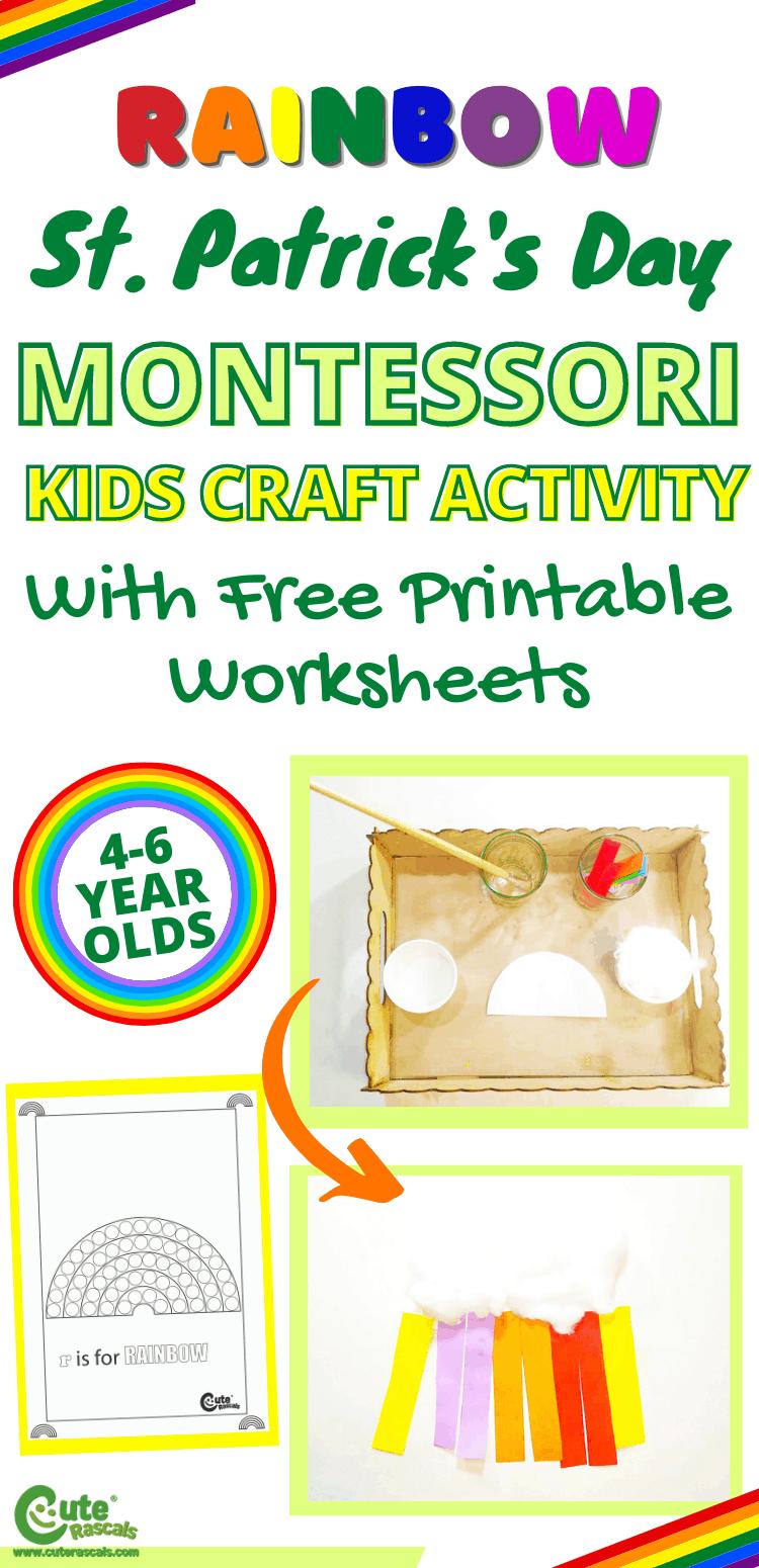 Fun St. Patrick's Day rainbow craft activity for preschoolers