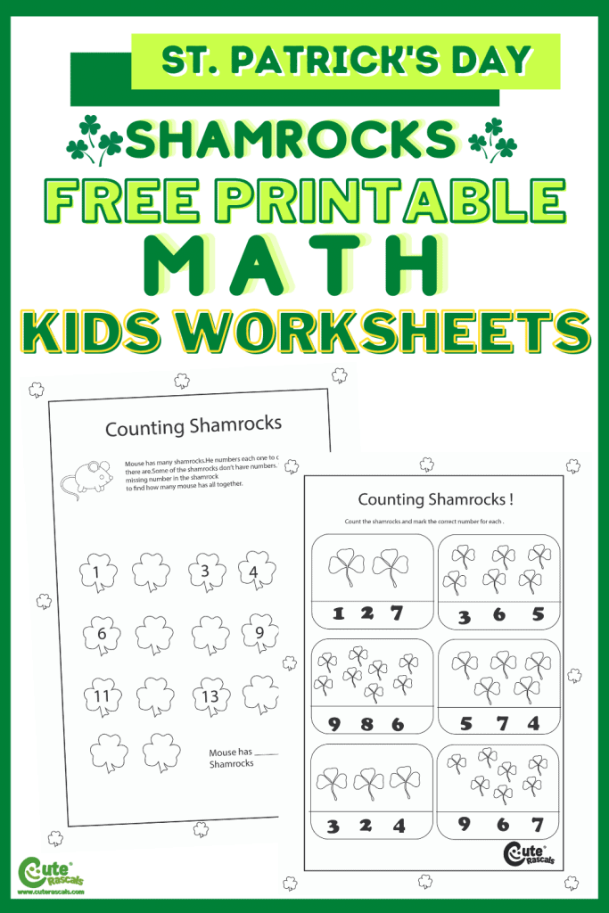 Free printable Math worksheets for preschoolers. For counting games for kids.