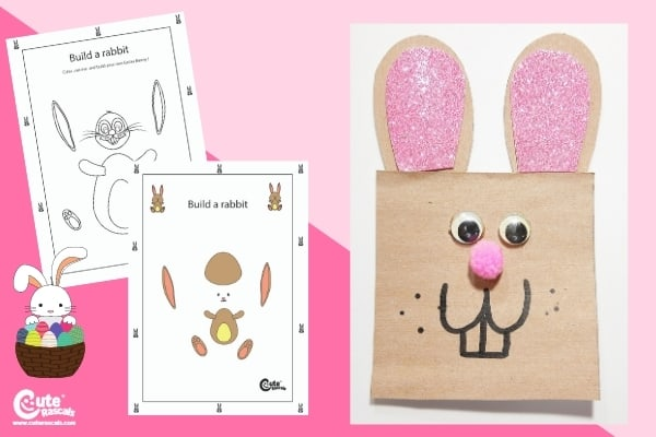 Easter Bunny Crafts for Kids Montessori Worksheets (4-6 Year Olds)