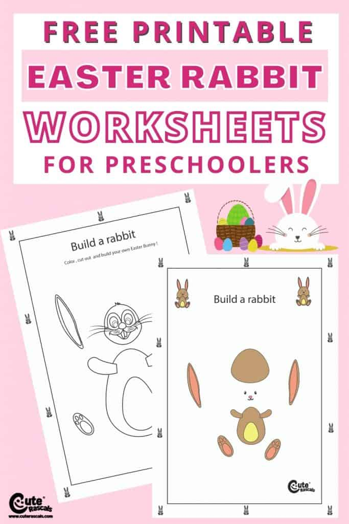 Easter rabbit worksheets for preschool