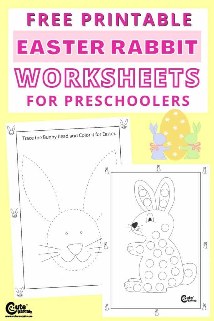 Free printable Easter worksheets for kids.