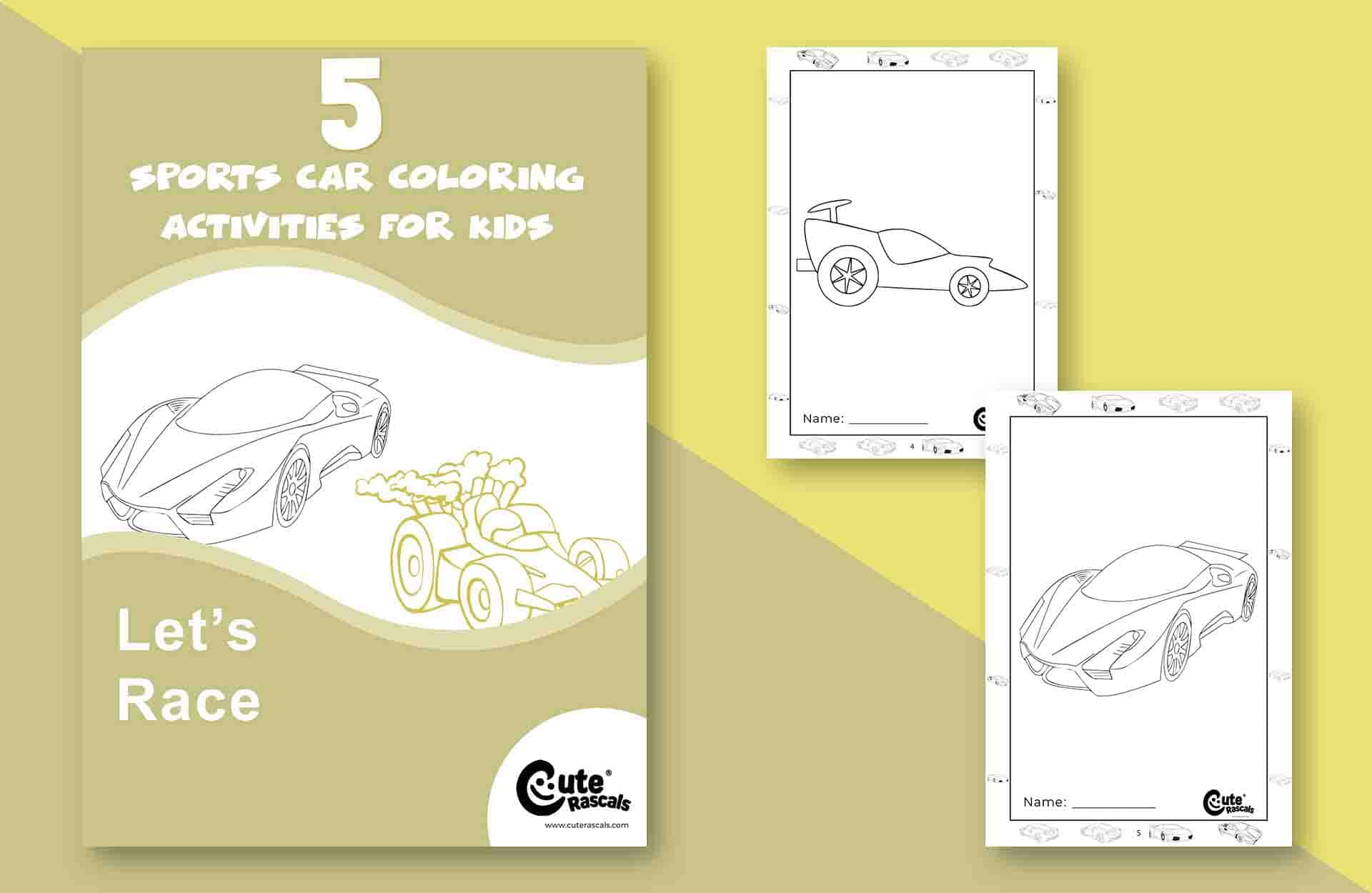 Top 5 Sports Car Coloring Pages for Kids to Enjoy
