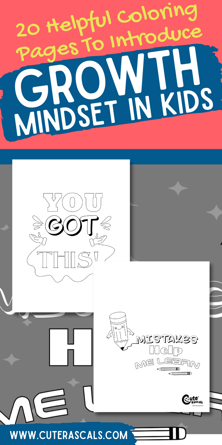 20 Helpful Coloring Pages To Introduce Growth Mindset In Kids