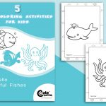 Cute Fish Coloring Pages (5 Sheets for Kids to Color)