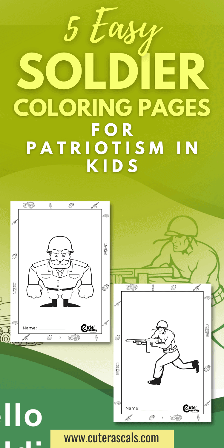 5 Easy Soldier Coloring Pages for Patriotism in Kids