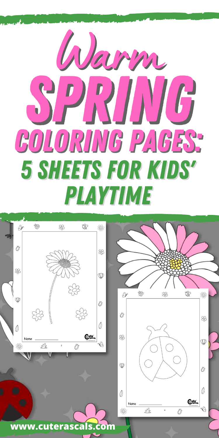 Warm Spring Coloring Pages: 5 Sheets for Kids' Playtime