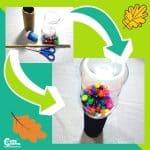 Autumn Sounds DIY Maraca Preschool Music Craft Sensory Play Worksheets (2-4 Year Olds)