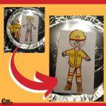 Dress the Fireman Craft Firefighter Activities for Preschoolers Montessori Worksheets (4-6 Year Olds)