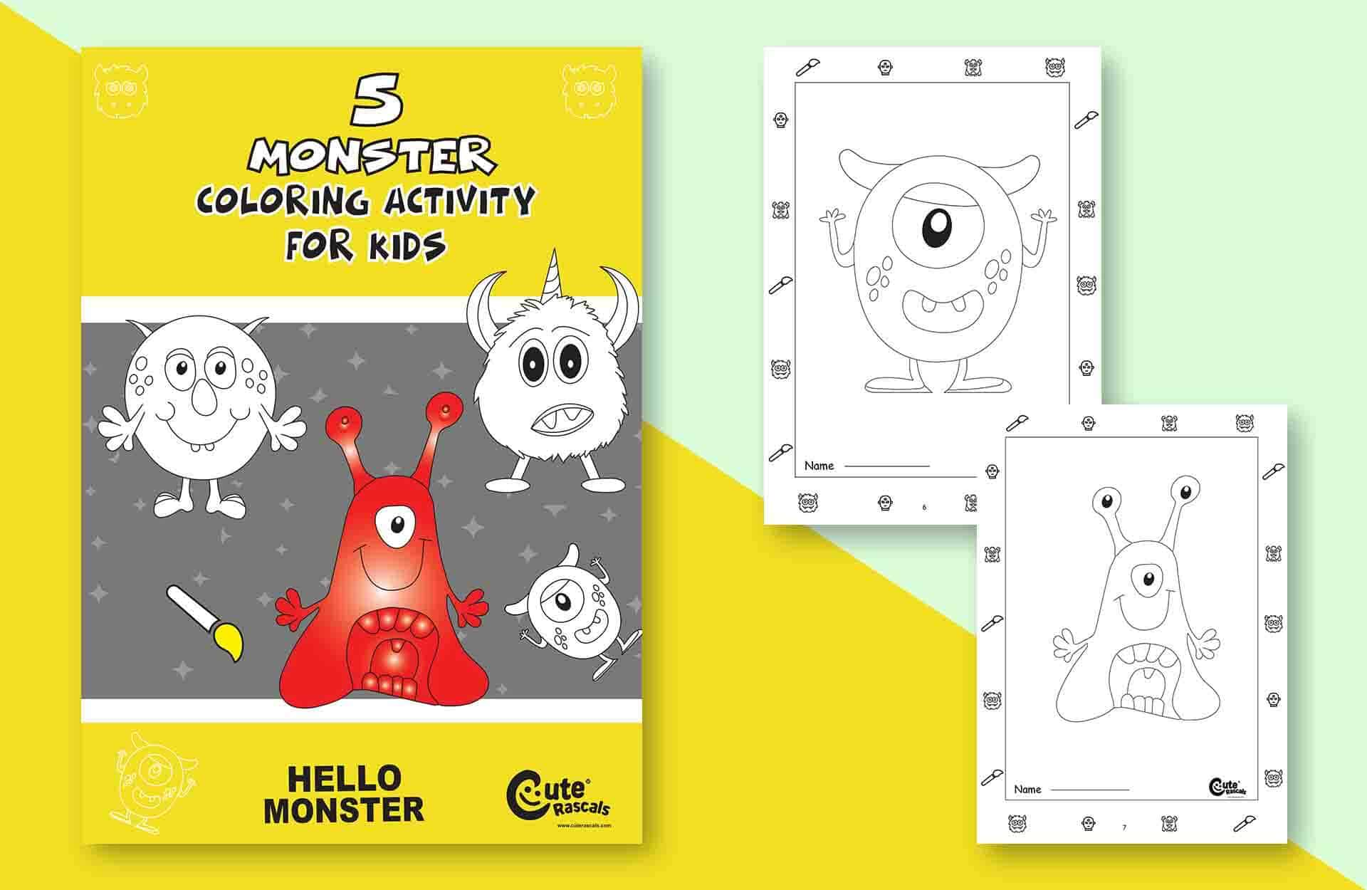5 Silly Monster Coloring Pages for Kids to Enjoy