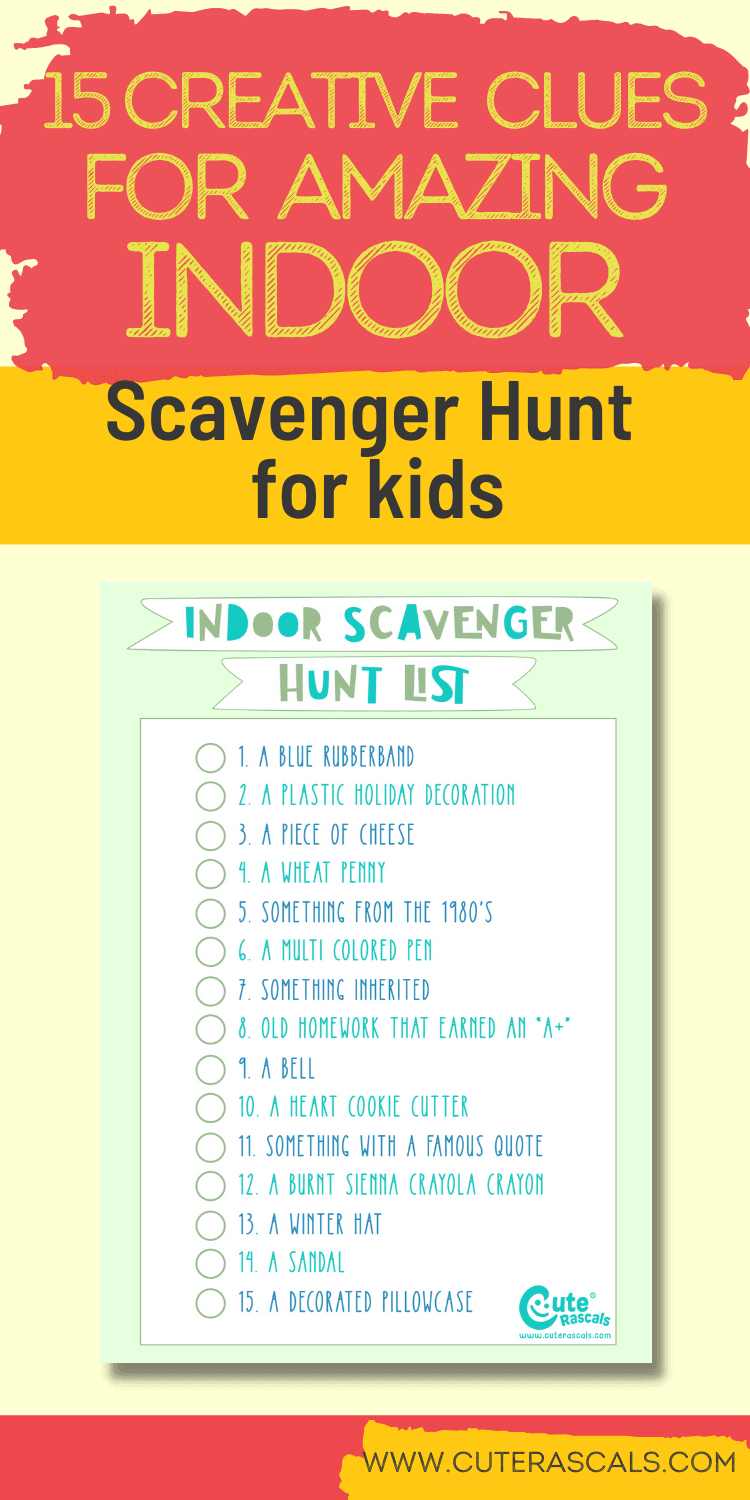 The Best at Home Indoor Scavenger Hunt For Kids You Can Play Now