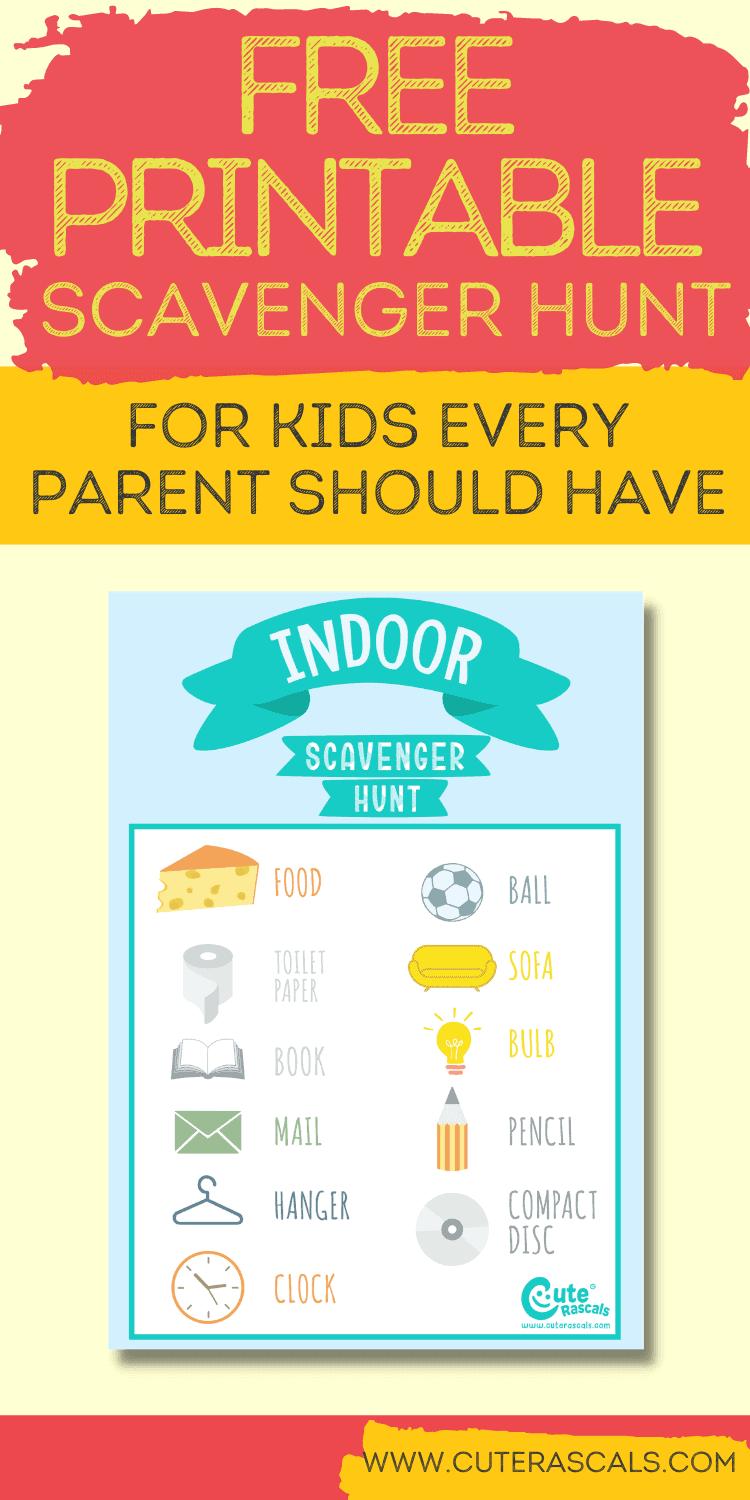 Super Easy Indoor Scavenger Hunt For Toddlers to Stay Busy