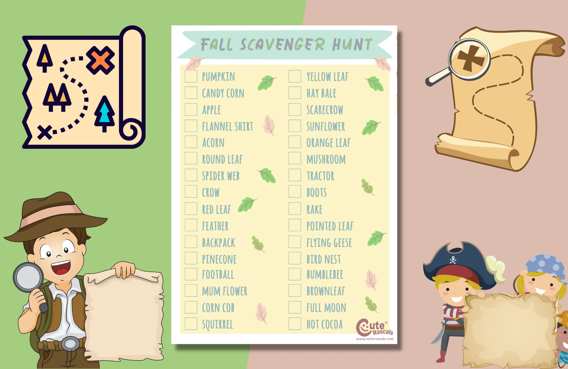 The Best Outdoor Scavenger Hunt For Kids You Need During Fall