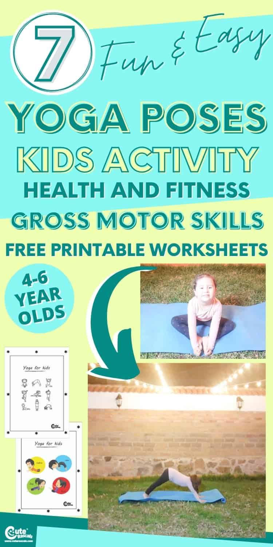 Fun gross motor activities for kids. Easy yoga for kids poses.