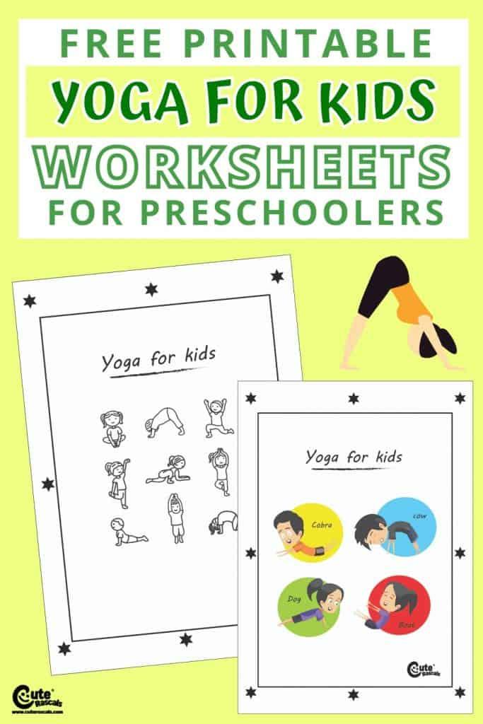 Yoga for kids free printable worksheets