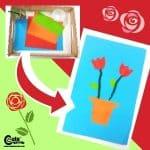 Roses for Mom Mother's Day Crafts for Kindergarten Fine Motor Skills Montessori Worksheets (4-6-Year-Olds)