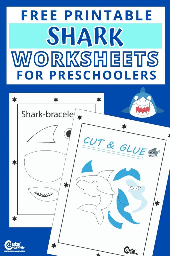 Free printable shark worksheets