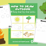 Cute Outdoor Items Drawing Guides (Clouds, Trees & More)