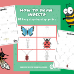How To Draw: 10 Cute Insect Drawing Guides For Kids And Beginners