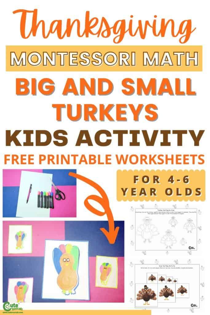 Montessori math big and small concepts activity