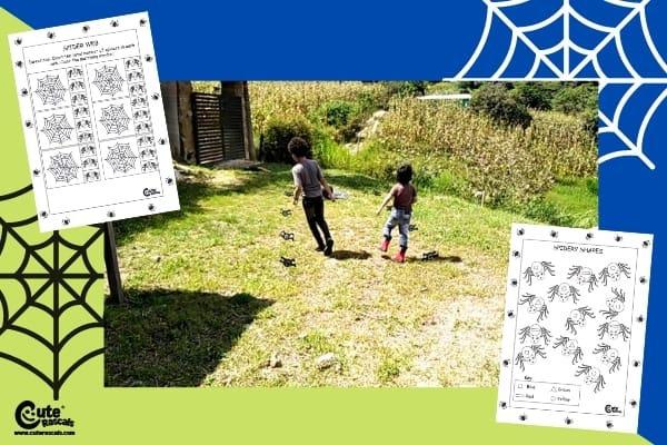 Let's Collect Spiders Gross Motor Games for Preschoolers Worksheets (4-6 Years Old)