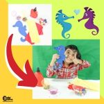 Creative Seahorse Kid Coloring Handcraft Activity Worksheets (4-6 Year Olds)