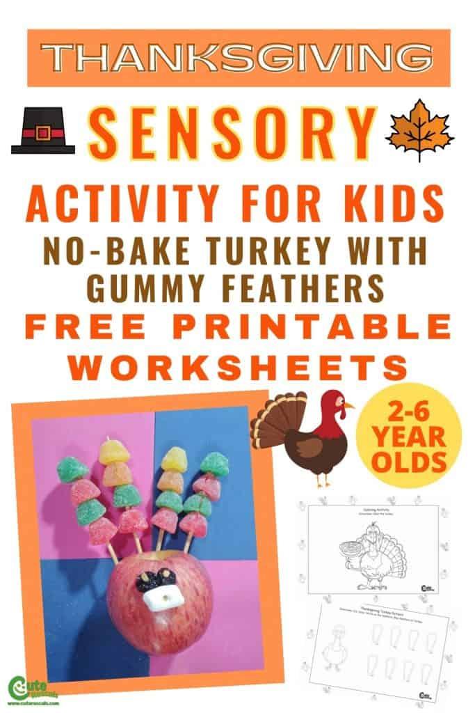 Thanksgiving turkey sense of taste activity for kids