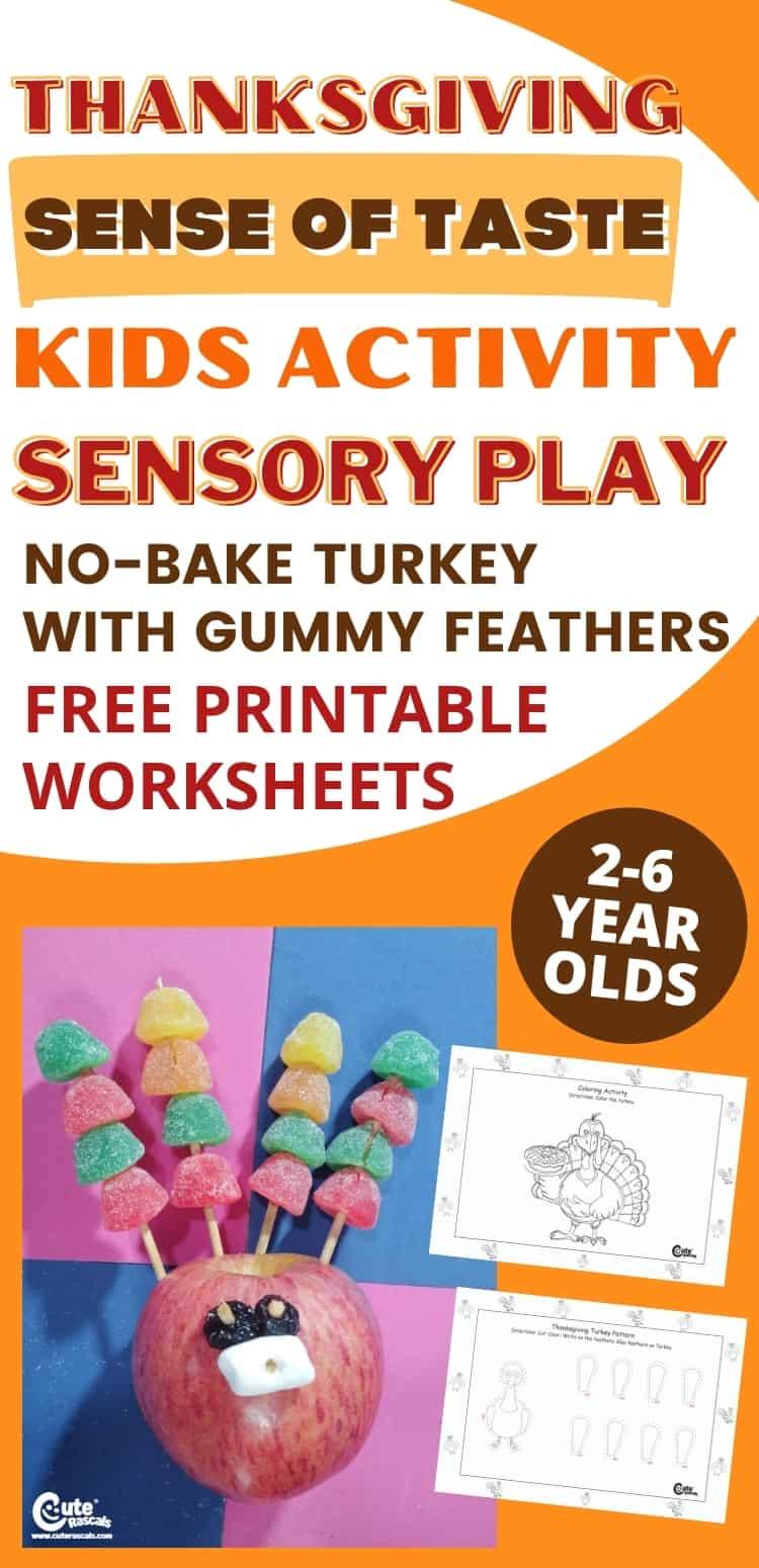 Let kids have fun doing the no-bake turkey Thanksgiving preschool activity.