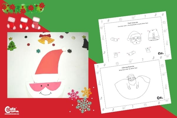 Dancing Santa Claus Craft for Kids Handcraft Worksheets (4-6 Year Olds)