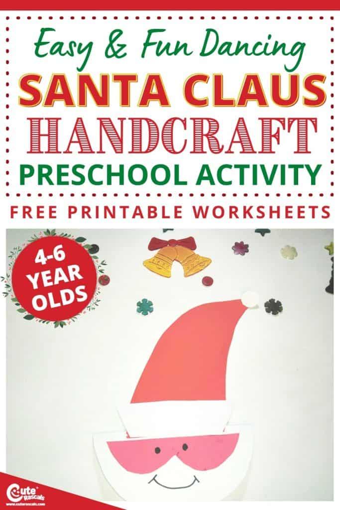 Dancing Santa Claus craft for preschoolers