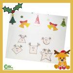 Reindeer Geometric Shapes for Kids Pre-K Worksheets (4-6 Year Olds)