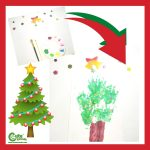 Stamping Handcraft Xmas Tree Easy Christmas Crafts for Preschoolers Worksheets (4-6 Year Olds)