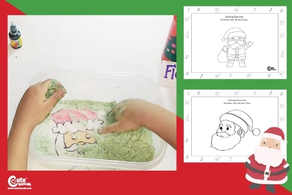 Where is Santa Claus? Sensory Activities for Preschoolers Worksheets (2-4 Year Olds)