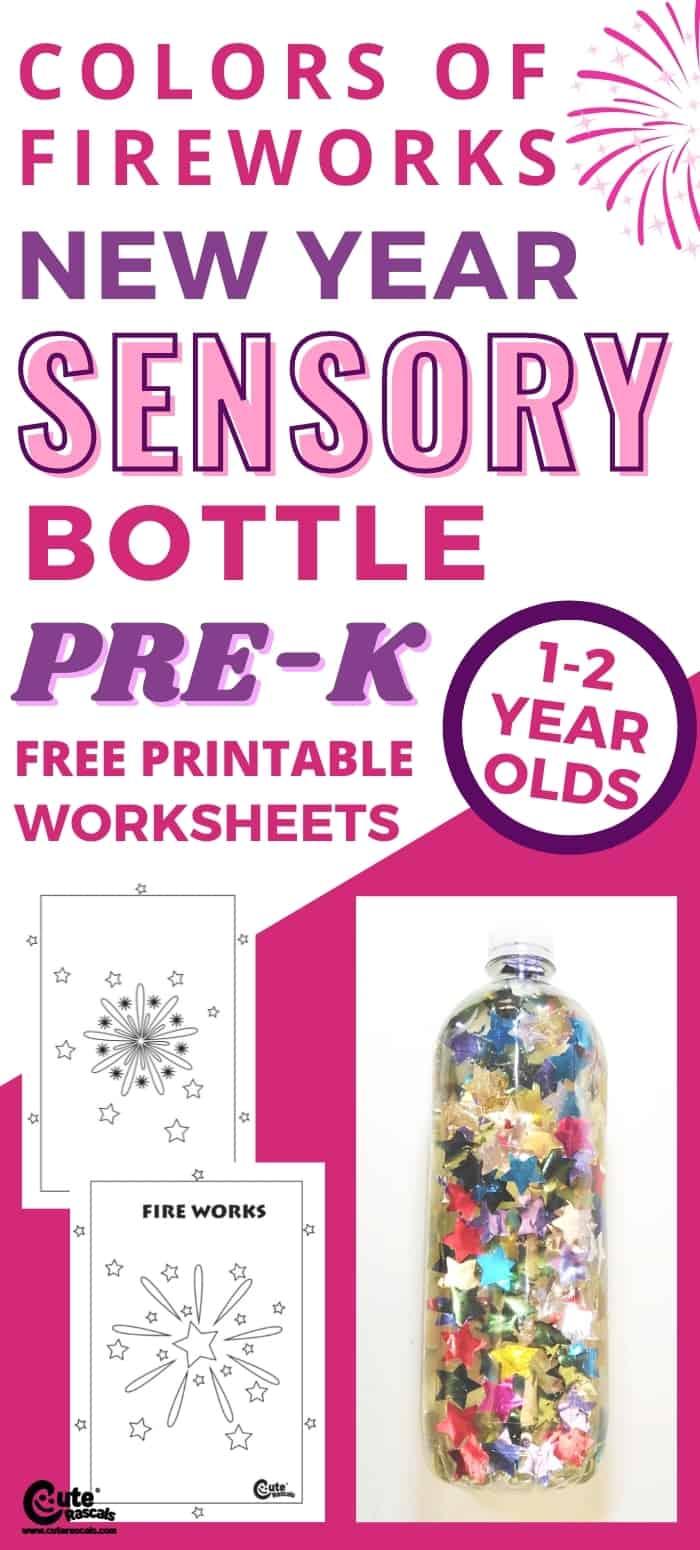 Super easy fun activity for preschoolers. Fireworks colors bottle craft sensory activity.