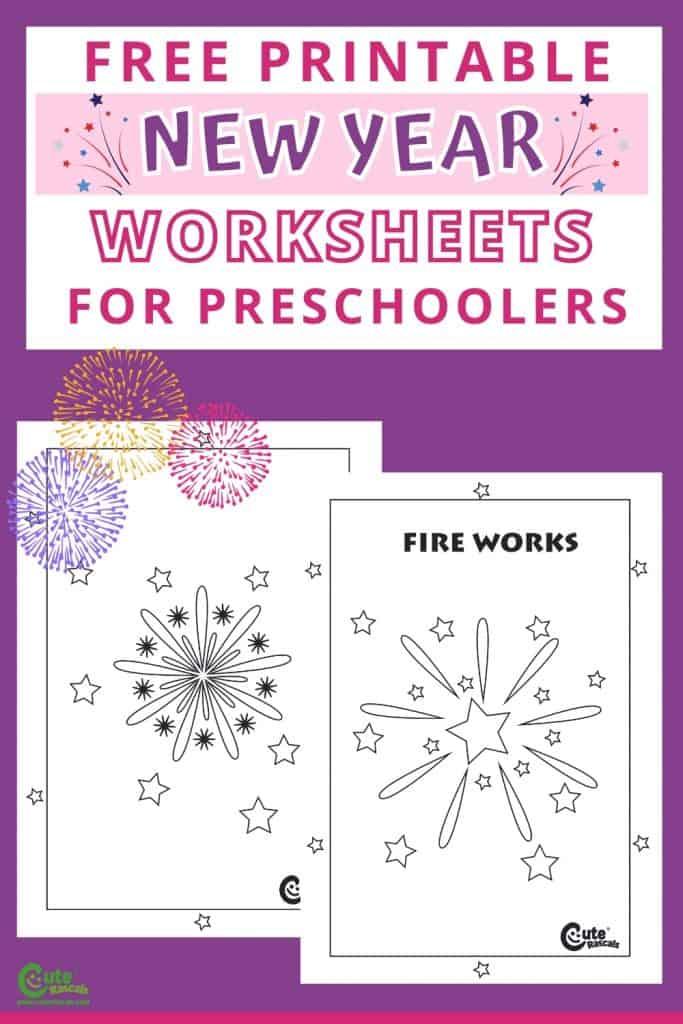 Free printable fireworks worksheets new year