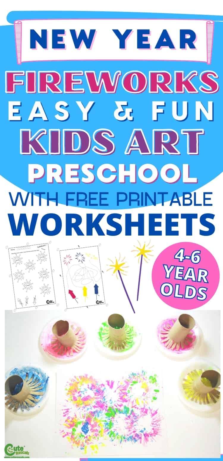 Super easy fun activity for preschoolers. Fireworks art for preschoolers.