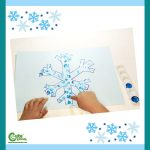 Free Snowflake Easy Winter Art for Kids Worksheets (4-6 Year Olds)