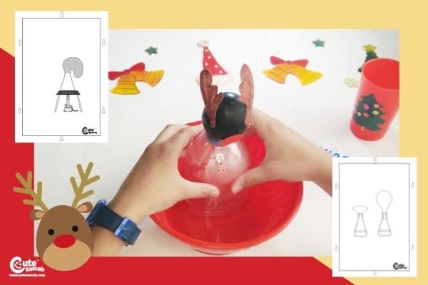 Christmas Reindeer Balloon Science Experiment STEM Worksheets Pre-K (4-6 Year Olds)