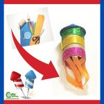 New Year Fireworks DIY Paper Rocket Craft Worksheets (4-6 Year Olds)