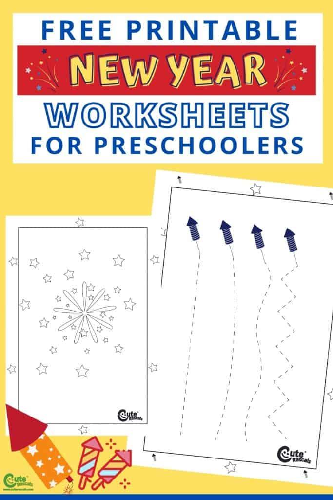 Free printable fireworks worksheets