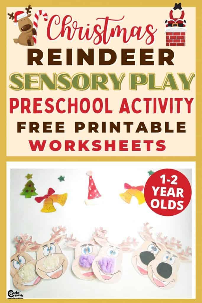 Sensory reindeer craft activity for preschoolers