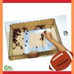 Sweep the Footballs Fine Motor Skills Preschool Super Bowl Montessori Worksheets (4-6 Year Olds)