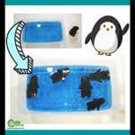 Winter Swimming Penguins Water Sensory Play Pre-K Worksheets (2-4 Year Olds)