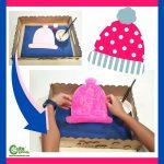 Winter Hat Preschool Art Activity Montessori Worksheets (4-6 Year Olds)