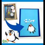 Winter Penguin Craft for Preschool Handcraft Montessori Worksheets (4-6 Year Olds)